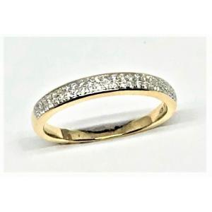 Dubbel alliansring 48st brillianter 0,15ct 18k massiv skena