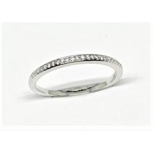 Alliansring smal 1,3mm med 24st brillianter 0,075ct 18K vg